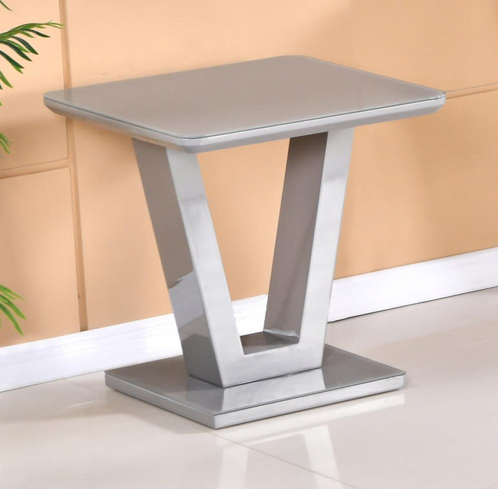 Tenerife Grey Lamp Table - Furniture Imports LTD
