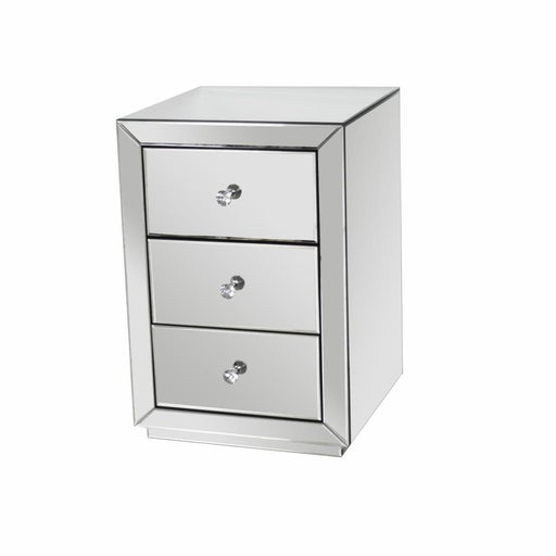Jasmine Bedside Plain Mirrored