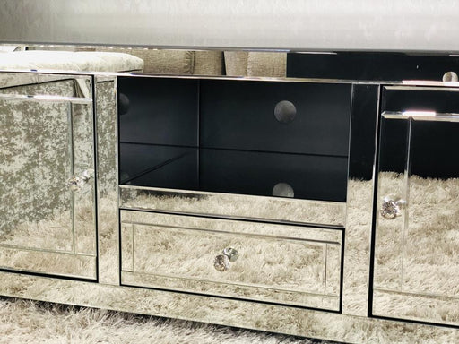 Jasmine Mirrored TV Unit Plain - Furniture Imports LTD