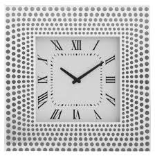 Mirrored Square Clock PHCL223-SIL - BESPOKEZ