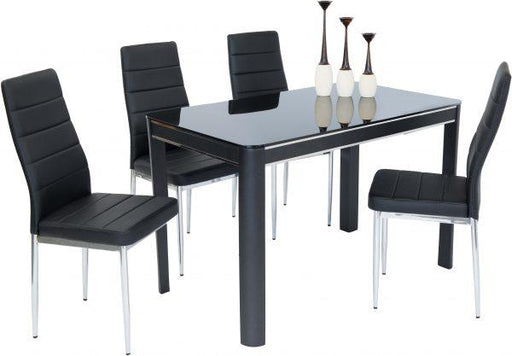 Morano Dining Set Black (4 Maxi Chairs)