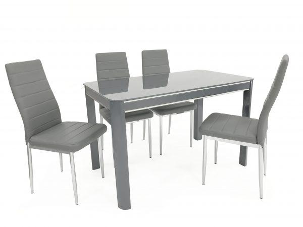 Morano Dining Set Grey (4 Grey Maxi Chairs) - Furniture Imports LTD