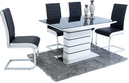 New York Dining Set (6 Black & White New York Chairs) - Furniture Imports LTD