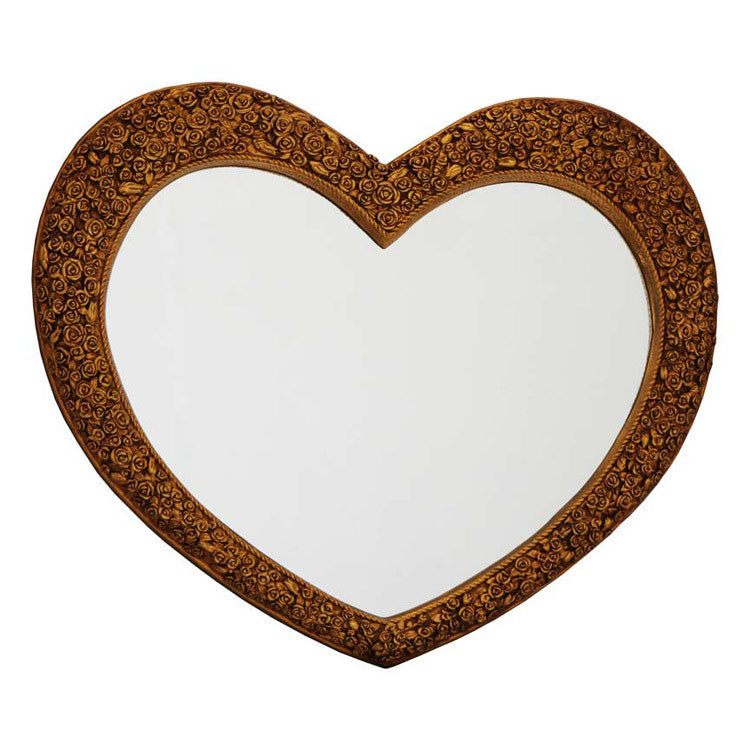 PMR Heart Mirror Gold - BESPOKEZ