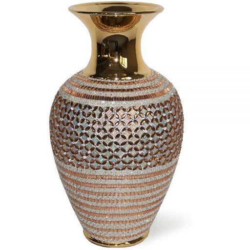 Gold Crystal Vase - Furniture Imports LTD