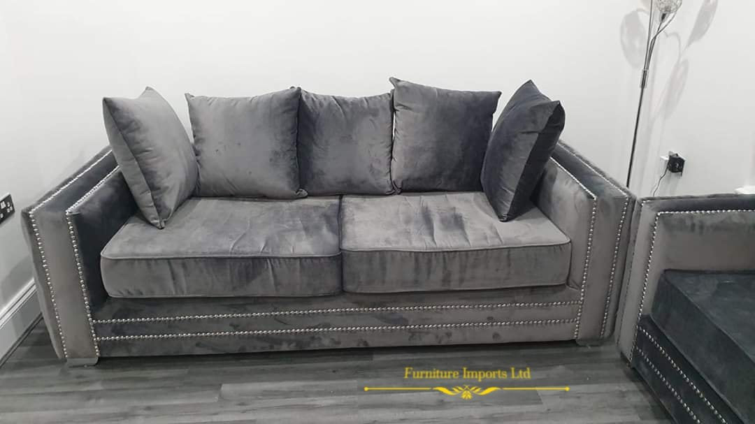 Vogue (Award Winning 2020 Design) French Velvet Sofa Range - Furniture Imports LTD