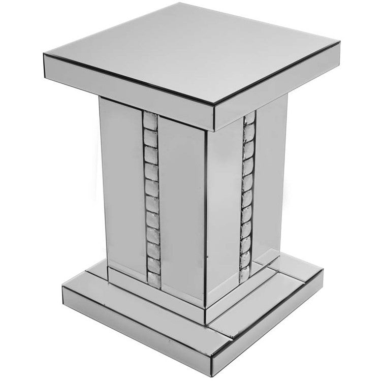 Silver Crystal Side Table - BESPOKEZ