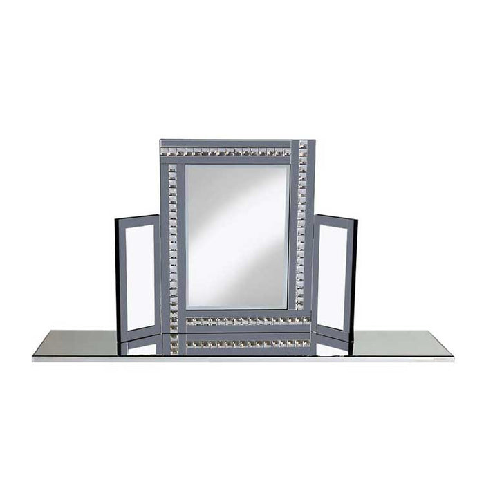 Smoke CRYSTAL Dressing Table Mirror - BESPOKEZ