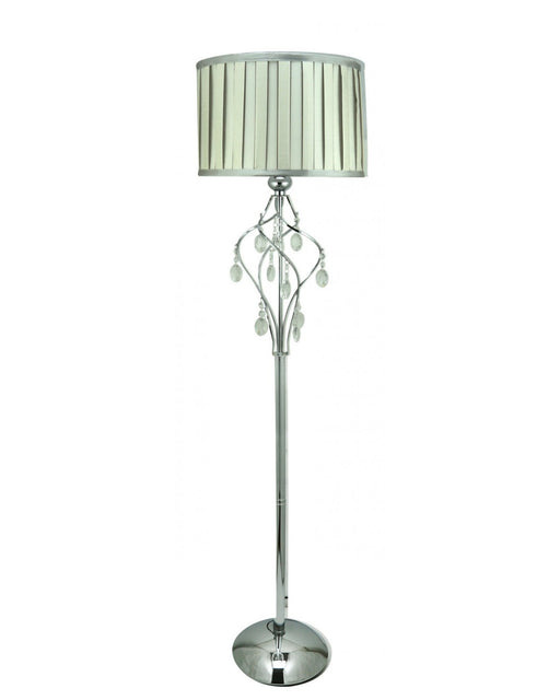 Grey Hollywood Floor Lamp With Square Terracotta L... - BESPOKEZ