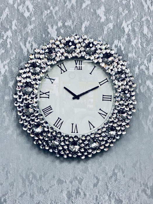 Mirrored Wall Clock - Furniture Imports LTD