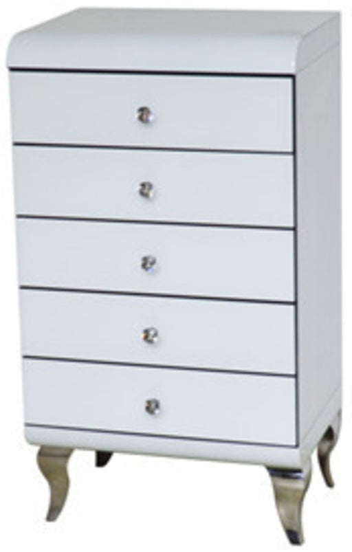 White Curved Chest Of Drawer - Furniture Imports LTD