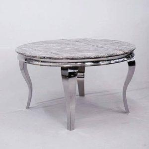 Ashley Round Solid Marble Dining Table + Majestic Chairs