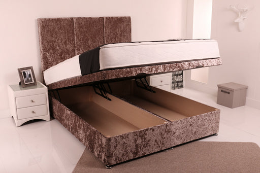 Ottoman crushed velvet bed Elegance double kingsize queen size single