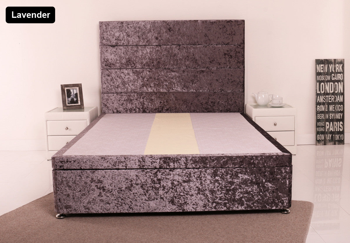 katie ottoman storgae bed double kingsize queen single gaslift ottoman crushed velvet
