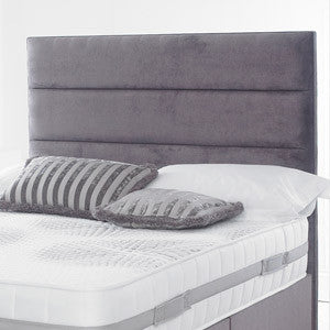 Katie Headboard is a very interesting design. Available in single double king and queen size A tuffed headboard upholstered in the finest fabrics; crushed velvet, chenille, velvet or leather