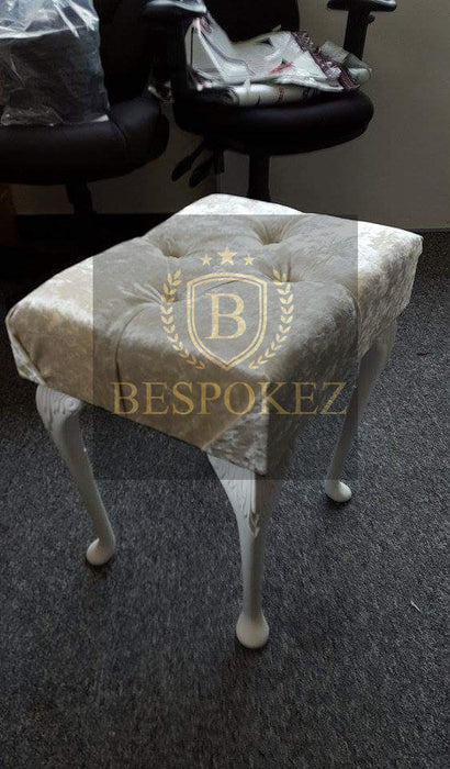 CRUSHED VELVET DRESSING STOOL - BESPOKEZ