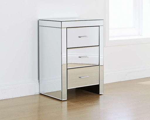 VENETIAN 3 Drawer Bedside MIRRORED FURNITURE