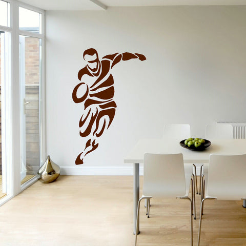 Delightful ... C7 RUGBY PLAYER BEDROOM WALL ART MURAL TRANSFER STICKER VINYL DECAL ...