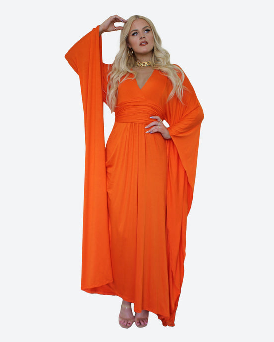 Tangerine Jessie Dress