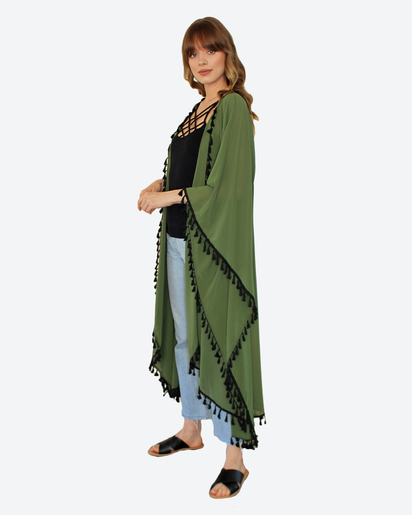 Forest Green Wings Kimono