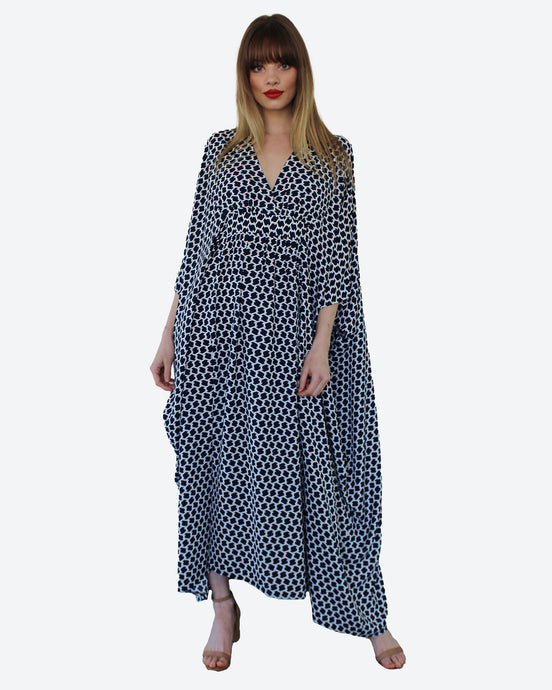 Navy Chain Link Palm Springs Caftan