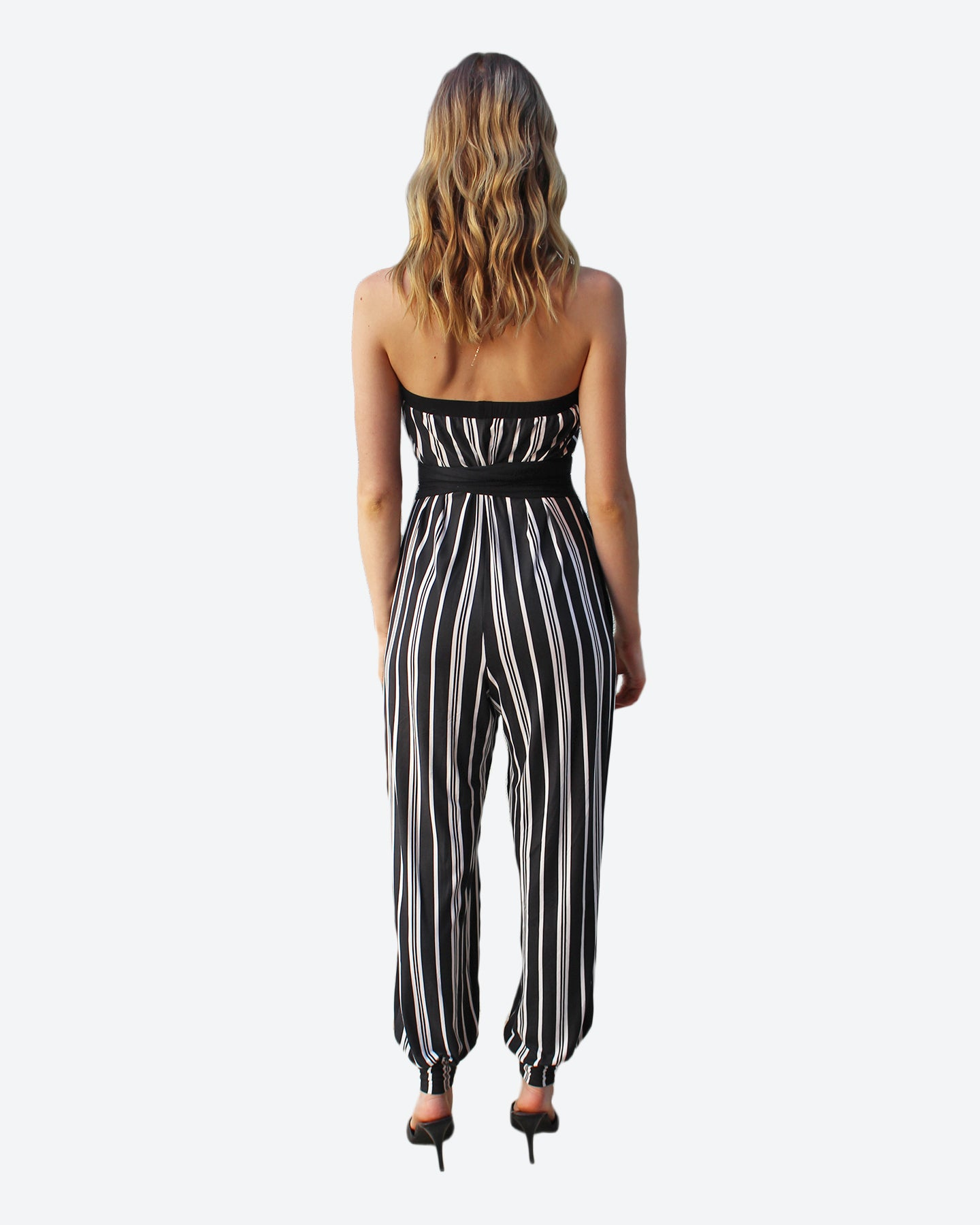 Striped Palm Springs Jumpsuit w/Sash