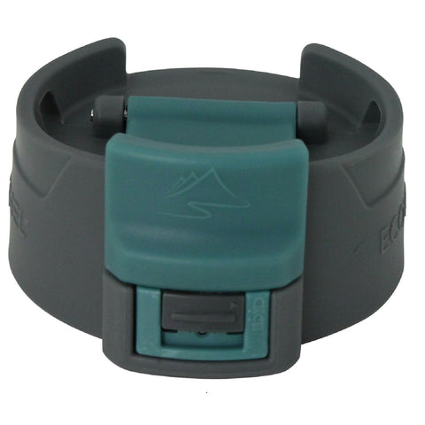 Perk Accessory Lid with Light Gray and Teal Coffee Top - Quantum Pride
