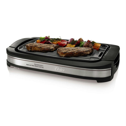 Oster DuraCeramic Reversible Grill and Griddle - Black