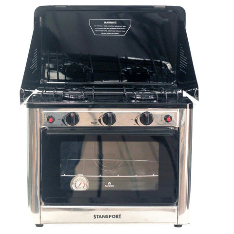 Stansport Propane Outdoor Camp Oven and 2 Burner Range - Quantum Pride