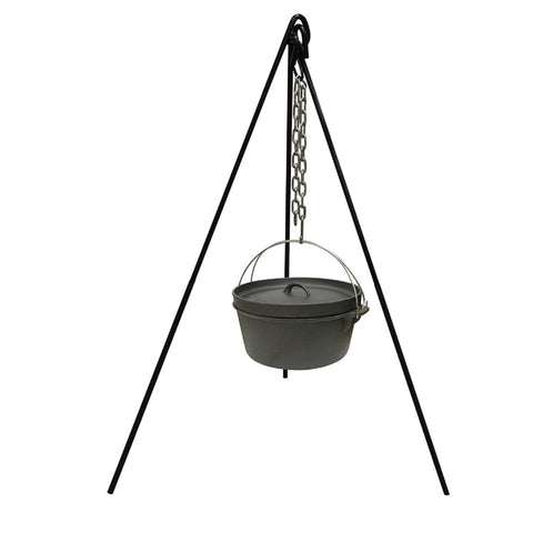 Stansport Cast Iron Cooking Tripod with S Hook - Quantum Pride