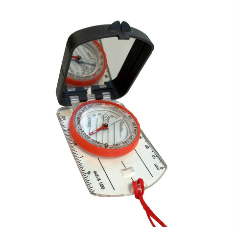 Alpine Mountain Gear Map Compass w- Mirror - Quantum Pride