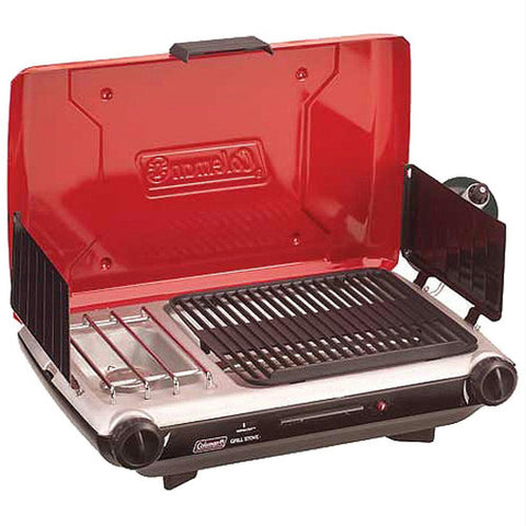 Coleman 2 Burner Grill Stove Combo Red-Black 2000020925