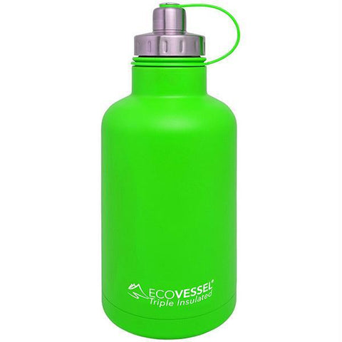 Eco Vessel The Boss Insulated Growler w-Infuser Green 64 oz - Quantum Pride
