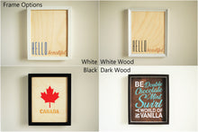 Be Double Chocolate Wood Print