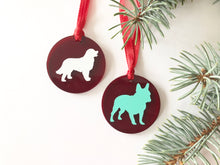 Round Pet Silhouette Christmas Ornaments