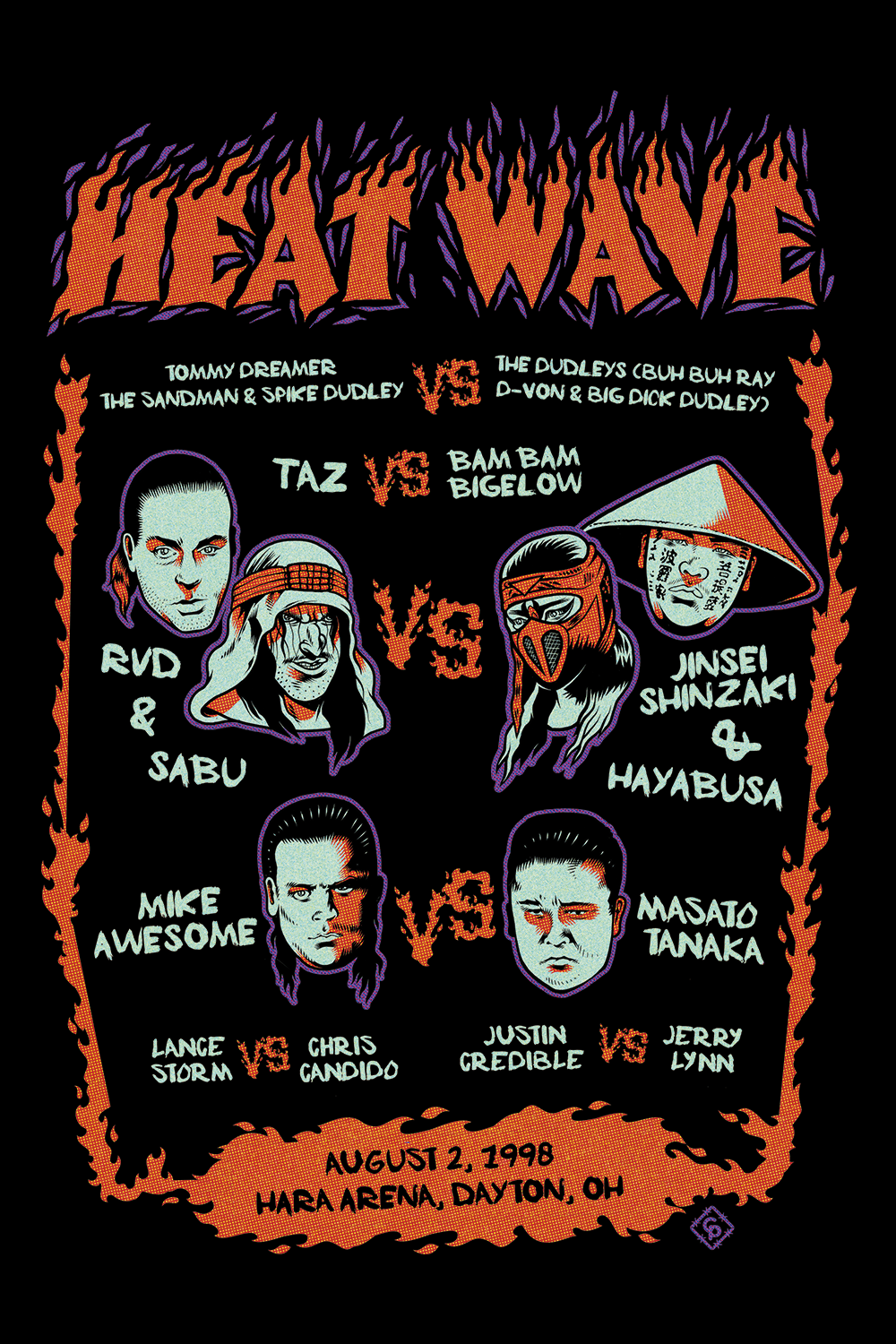 Heat Wave 98' Event Shirt