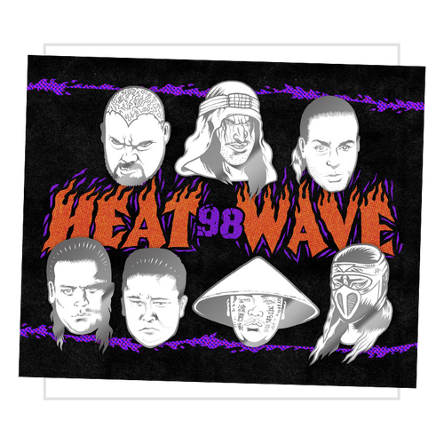 Heat Wave 98' Enamel Pin Set