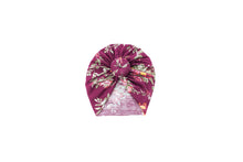 Load image into Gallery viewer, Burgundy Floral Knot