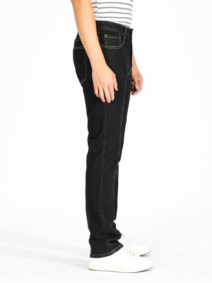 Slim Straight Jeans - Black