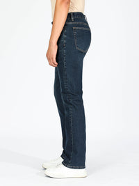 Slim Straight Jeans - Dark Blue