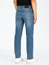 Slim Straight Jeans - Mid Blue
