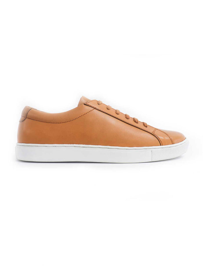 Tan On White Sneaker