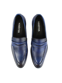 Penny Loafers - Blue