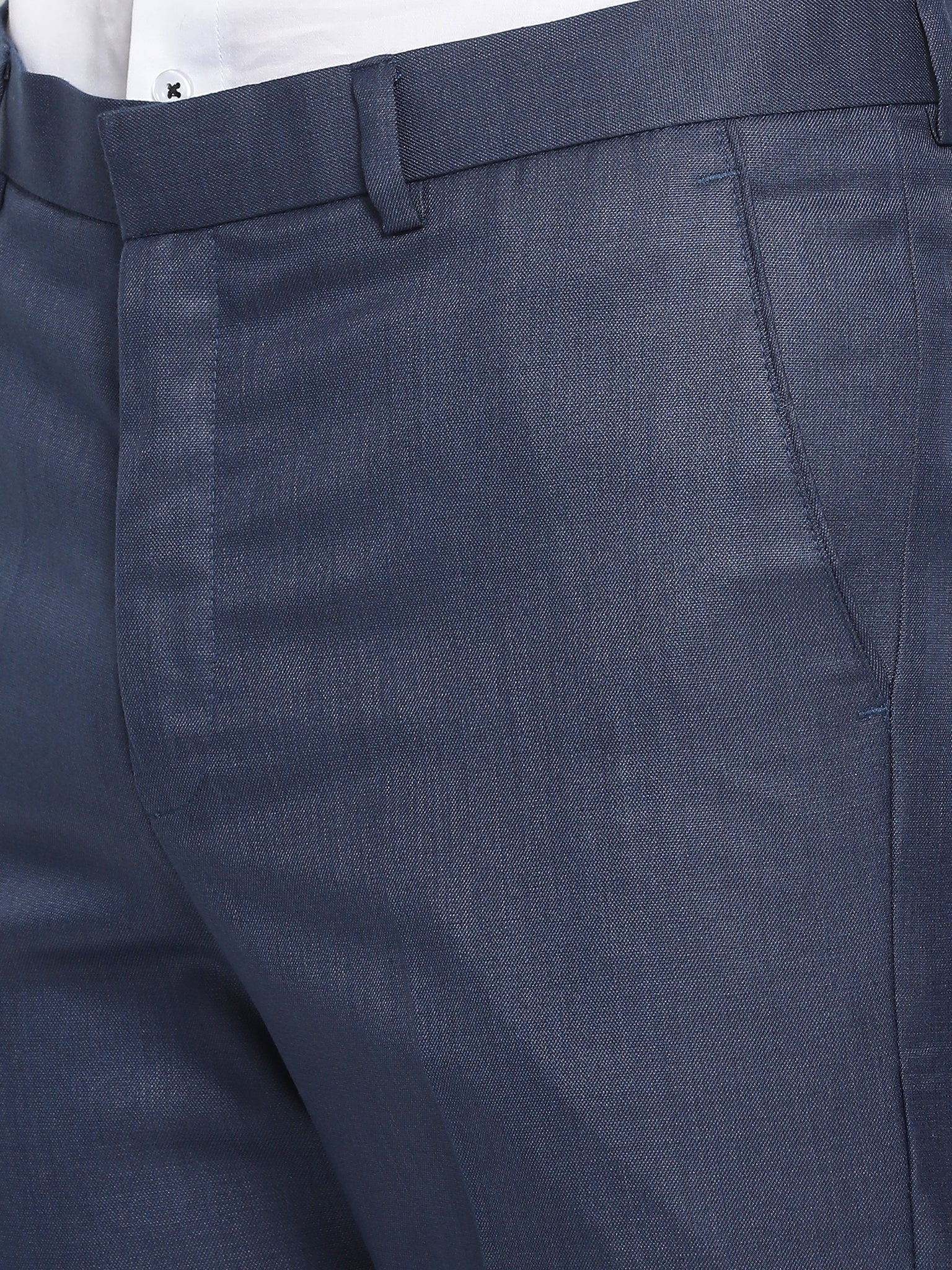 Slim Fit Space Blue Suit Pant