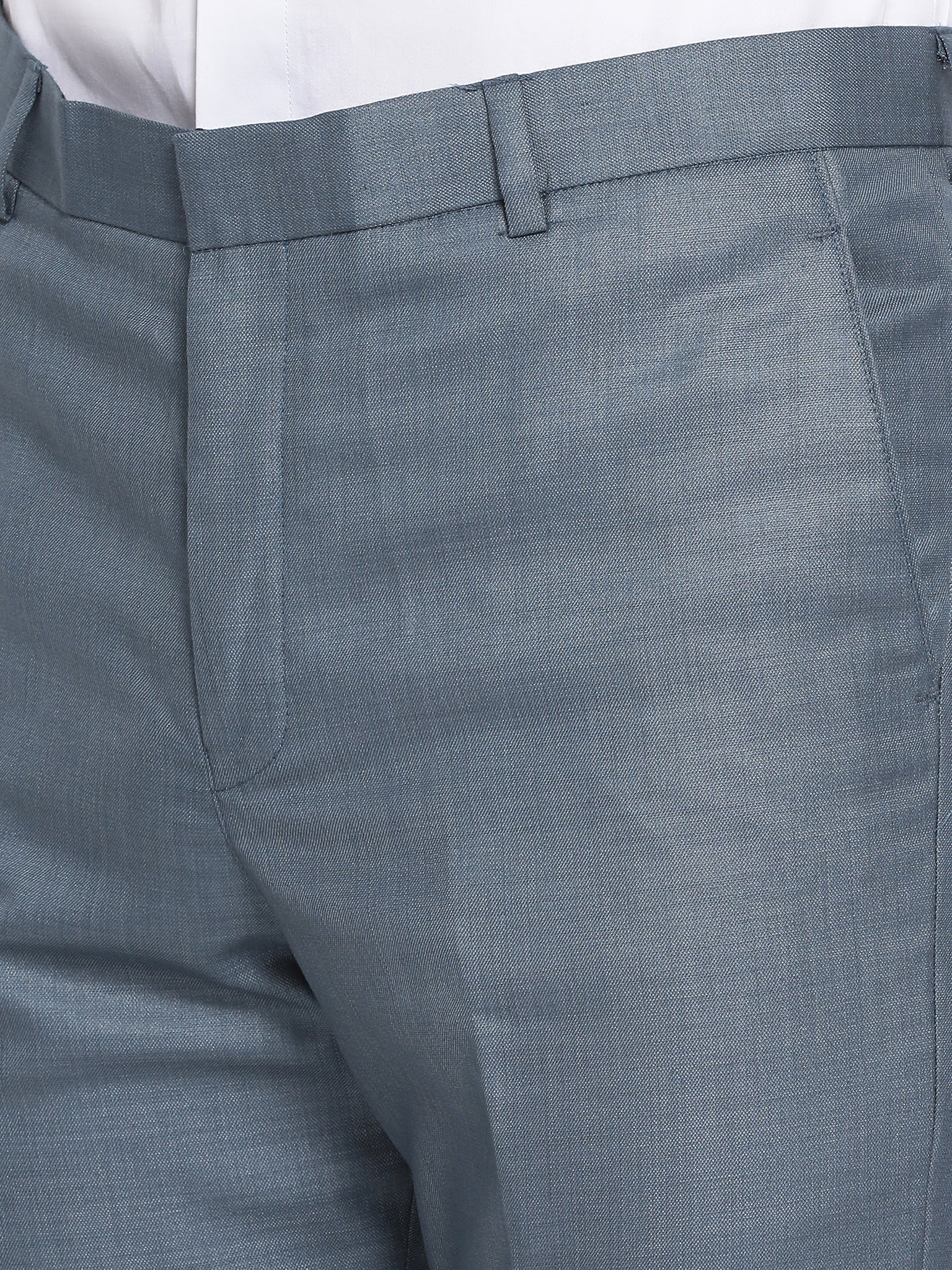 Slim Fit Stone Blue Suit Pant