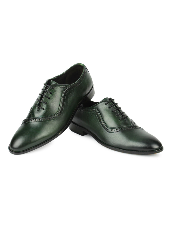 Men's Brogues - Green
