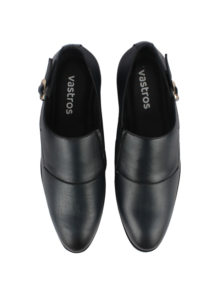 Single Monk Strap Shoes - Black