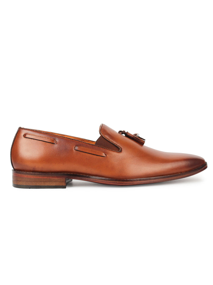 Penny Loafer with Tassel - Brown