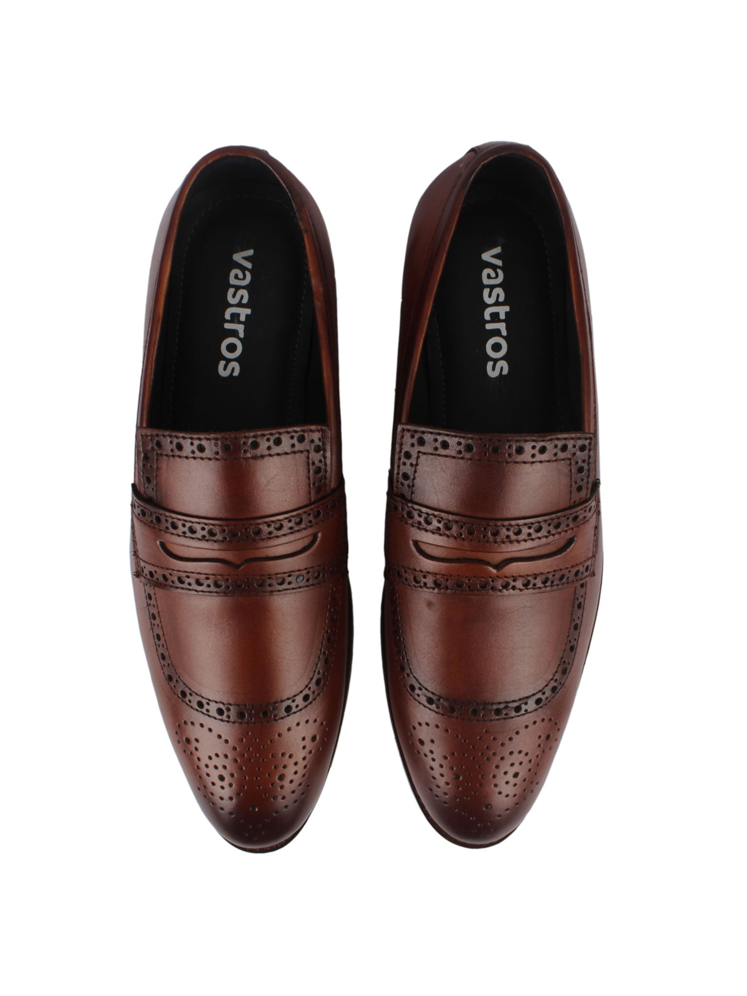 Brogue Penny Loafers - Brown