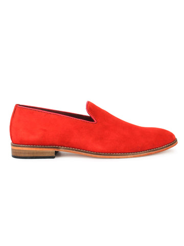 Suede Loafer - Red